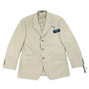Chaps Light Gray Beige Suit Sport Coat Blazer